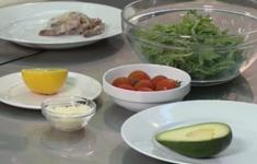 Салат из рукколы с креветками. Суп-пюре из спаржи. Паста «Пенне» с сыром и базиликом