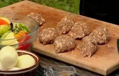 Люля кебаб. Овощи гриль
