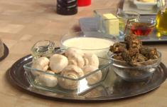 Жульен грибной. Суп капучино из грибов с пудрой из сморчков