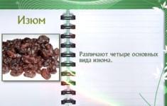 Виноград, изюм