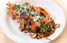 Картофель с грибами. Картофельный салат. Батат с шампиньонами и трюфельным маслом