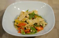 Пшенная каша с тыквой и изюмом. Картофельный суп «Лике», Курица с овощами в апельсиновом соусе. Салат в греческом стиле с сыром фета и бальзамиком, Севиче из лосося с кумкватом