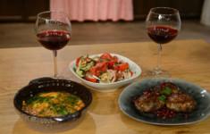 Грузинский салат. Абхазура. Чирбули