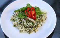 Суп из сайры и морской капусты. Салат из морской капусты и кальмаров