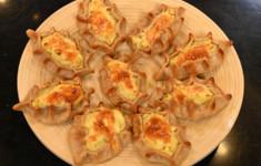 Калитки с картофелем. Свиная вырезка, фаршированная хурмой