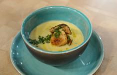 Жареные белые грибы и лук-порей под соусом. Суп-крем из картофеля и лука-порея с белыми грибами