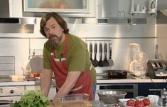 Мясной батон. Мексиканский салат