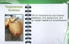 Черепичное печенье