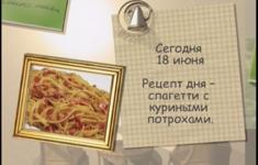 Спагетти с куриными потрохами