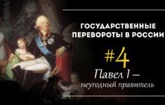 Павел I - неугодный правитель